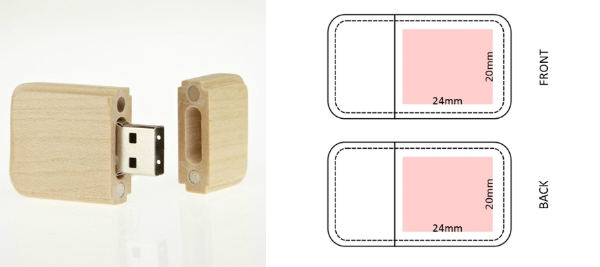USB-Stick RS445 Holz Gravur