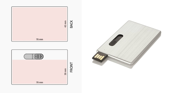 USB-Stick RS471 Karte Siebdruck Digitaldruck