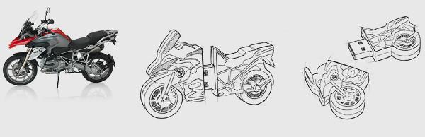 USB-Stick BMW Motorrad individuell