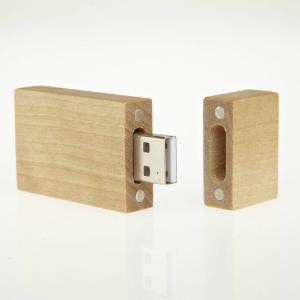 USB-Stick RS467 aus Holz geeignet fuer Sieb- und Digitaldruck