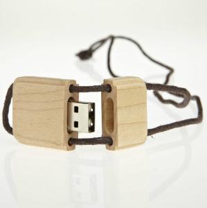 USB-Stick RS468 aus Holz geeignet fuer Sieb- und Digitaldruck