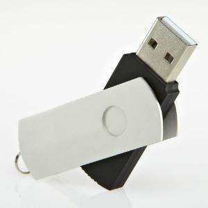 USB-Stick RS535 aus Kunststoff und Metall geeignet fuer Sieb- und Digitaldruck