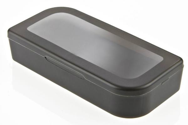 Magnetbox aus Kunstoff fuer USB Sticks Milchglasoptik oder Schwarz