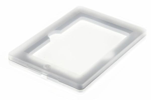 Magnetbox aus Kunststoff fuer USB-Sticks transparent Rahmen in Milchglasoptik